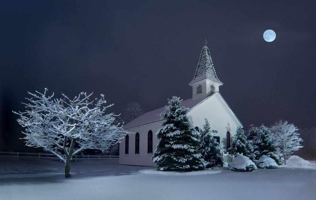 Apple Chapel at night copy - new retouc, 3-07 flat